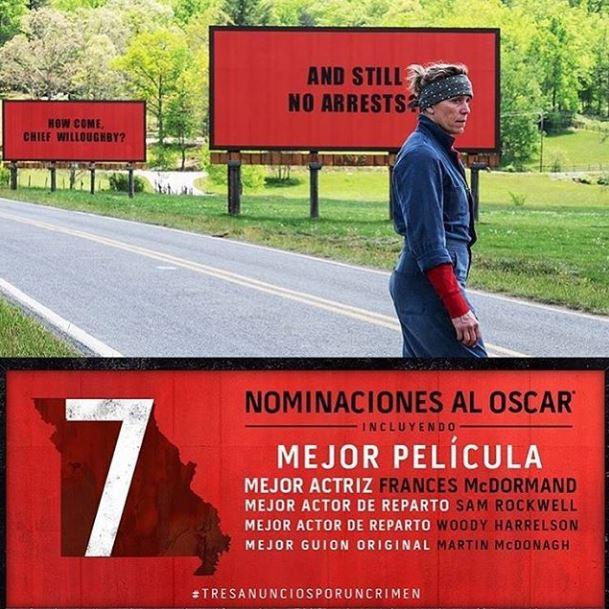 Photo of '3 Anuncios Por Un Crimen' con 7 nominaciones a los Premios Óscar