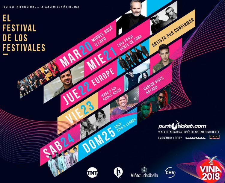 Photo of Festival Internacional de la Canción de Viña del Mar 2018