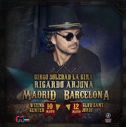 Photo of Ricardo Arjona estará en Madrid y Barcelona