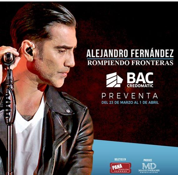 Photo of Preventa para el concierto de Alejandro Fernández