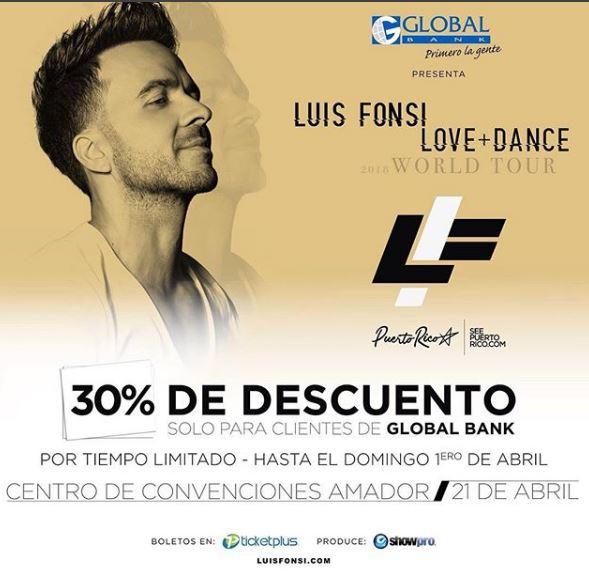 Photo of Oferta especial para boletos de Luis Fonsi en Panamá