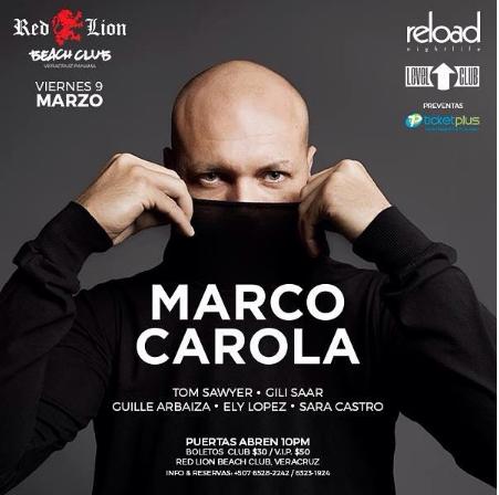Photo of Esta noche estará Marco Carola en Panamá
