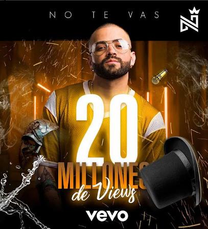 Photo of «No Te Vas» de Nacho llega a 20 millones de visitas