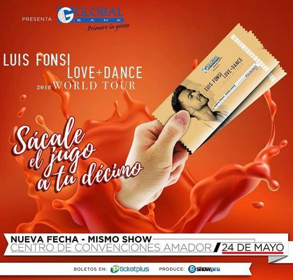 Photo of Promo en boletos para concierto de Luis Fonsi en Panamá