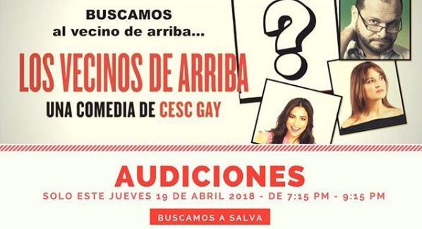 Photo of Atención¡ audiciones para la obra 'Los Vecinos de Arriba'