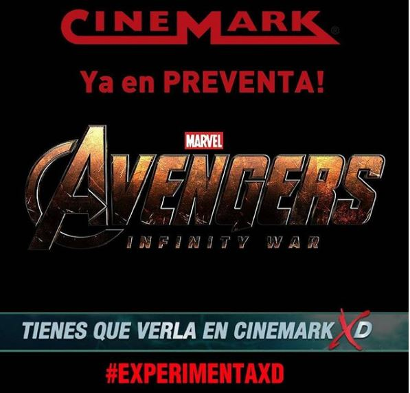 Photo of Preventa para 'Avengers: Infinity War' en Cinemark