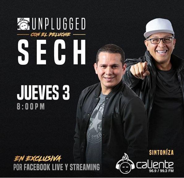 Photo of Esta noche 'Unplugged Caliente de Sech' con dos acompañantes