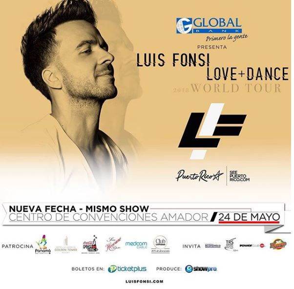 Photo of Cuenta regresiva para el concierto de Luis Fonsi en Panamá