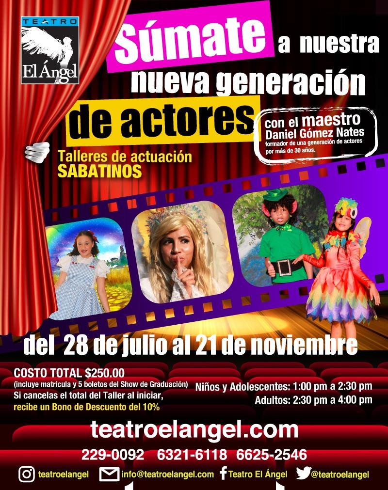 Photo of Inscripciones abiertas para 'Talleres de actuación sabatinos' en Teatro el Ángel