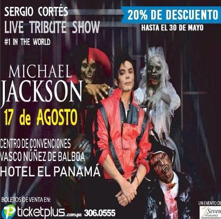 Photo of Descuento al 20% para «Show con tributo a Michael Jackson en Panamá»