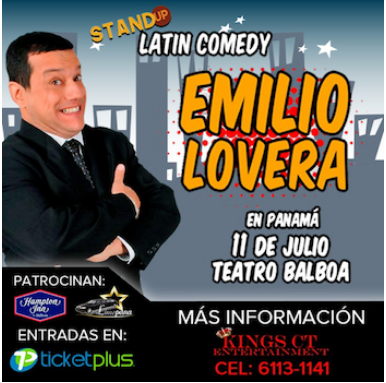 Photo of «Emilio Lovera, Stand Up Latin Comedy» en Panamá