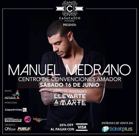 Photo of Manuel Medrano brindara concierto en Panamá
