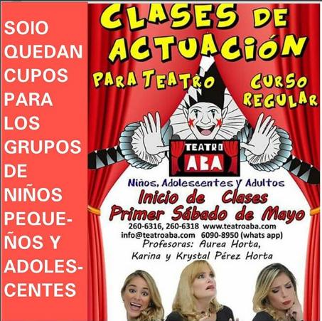 Photo of Cupos agotados para las «Clases de actuación en Teatro Aba»