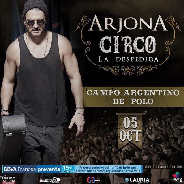 Photo of Ricardo Arjona grabará en Argentina un disco en vivo y un documental