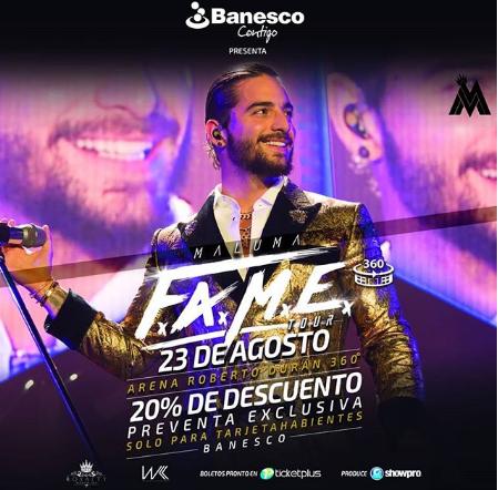 Photo of Hoy comienza la pre-venta para el concierto de Maluma Panamá su tour F.A.M.E.