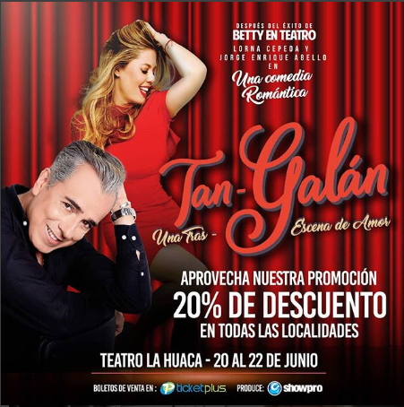 Photo of Sigue la promoción para los boletos de la comedia 'Tan Galán' en Panamá