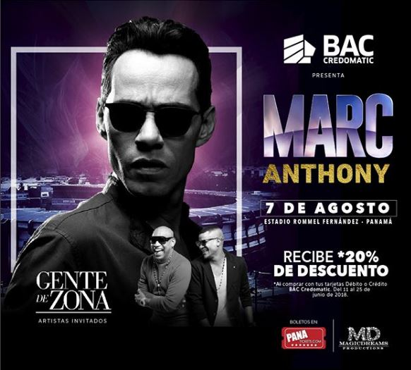 Photo of Inicia la Pre-venta Exclusiva para el concierto de Marc Anthony en Panamá
