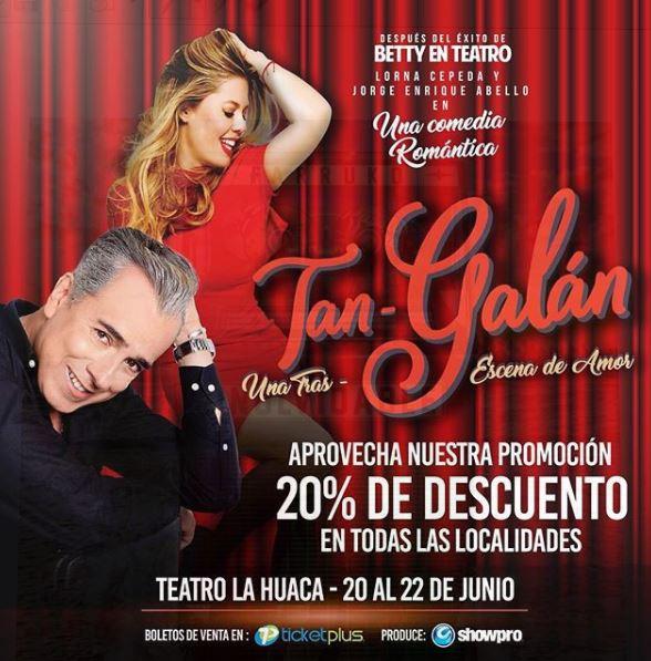 Photo of Promoción para los boletos de la comedia 'Tan Galán' en Panamá