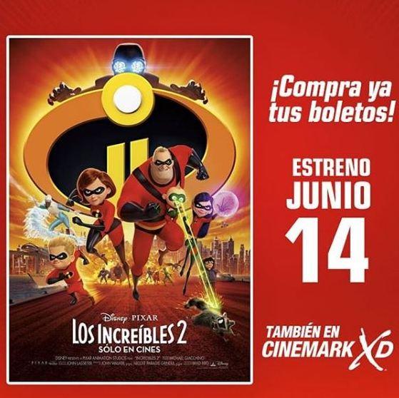 Photo of Pre- venta en Cinemark para la película 'Los Increíbles 2'