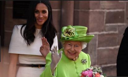 Photo of Meghan Markle acompaña por primera vez a la reina Isabel II en una visita oficial