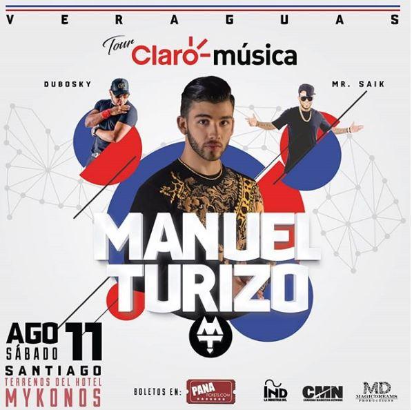 Photo of Manuel Turizo en concierto en Veraguas