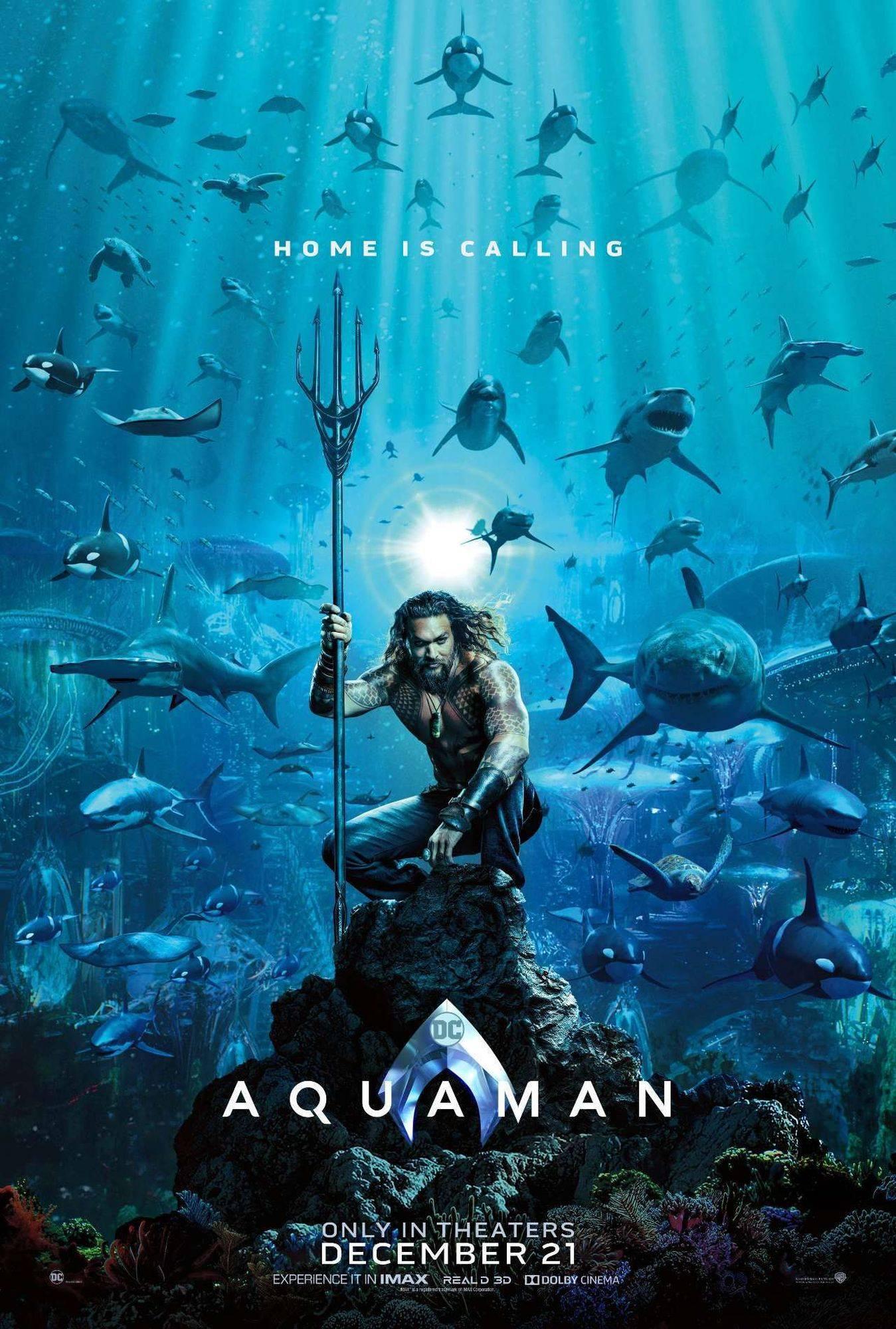 Photo of Lanzan el poster oficial de la película 'Aquaman'