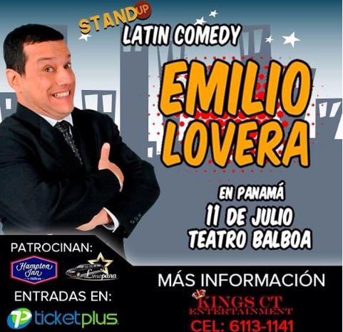 """Photo of A pocos días para el evento de """"Emilio Lovera, Stand Up Latin Comedy"""""""