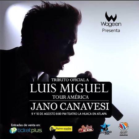 Photo of Tributo oficial a Luis Miguel en un show con Jano Canavesi