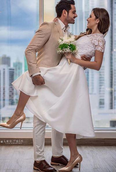 Photo of Robin Durán y Maricely González se casaron por el civil