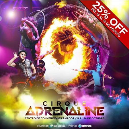 """Photo of Aprovecha el descuento al 25% para el """"Cirque Adrenaline"""""""