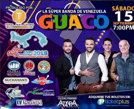 Photo of En Panamá el concierto de «Guaco»