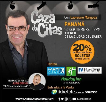 Photo of 20% de descuento 'Caza de Citas' de Laureano Marquez en Panamá