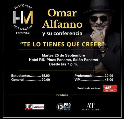 Photo of Esta noche Omar Alfanno y su conferencia en Panamá