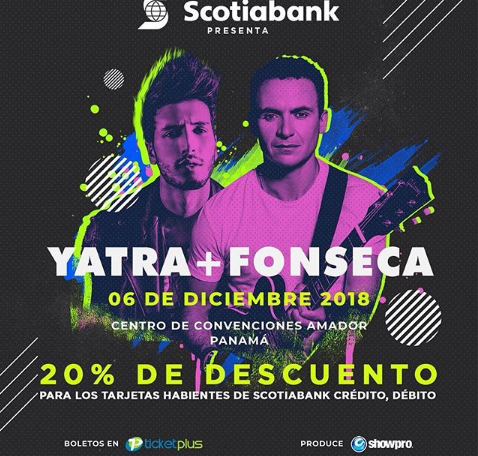 Photo of 20% de descuento para el concierto de Sebastián Yatra y Fonseca en Panamá