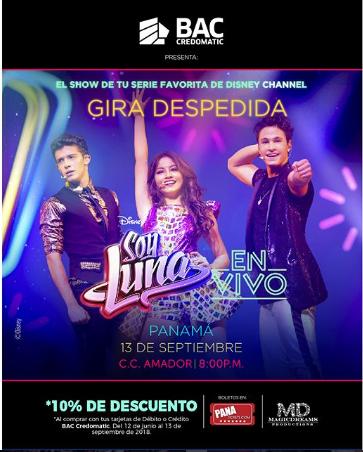"""Photo of A solo 3 días para el concierto de """"Soy Luna"""" en Panamá"""