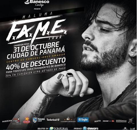 Photo of 40% descuento en boletos para el concierto de Maluma en Panamá