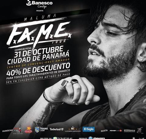 Photo of Descuento en boletos para el concierto de Maluma en Panamá