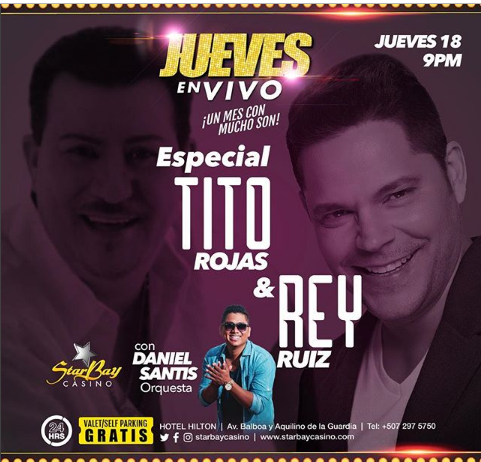 Photo of Esta noche el especial de Tito Rojas y Rey Ruiz en StarBay Casino