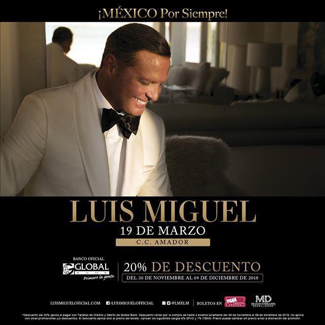 Photo of Pre-venta para el concierto de Luis Miguel en Panamá