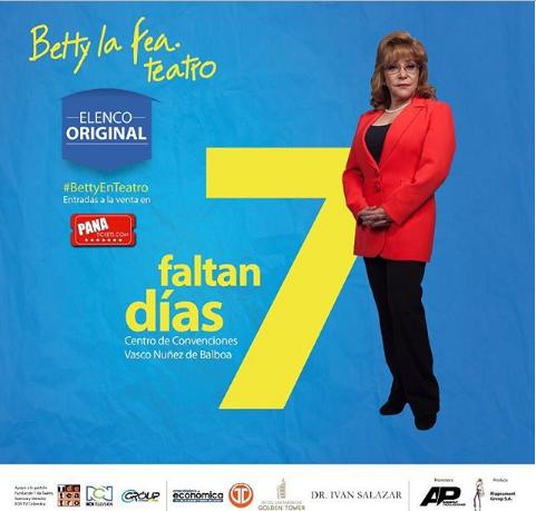 """Photo of A solos 7 días para """"Betty La Fea"""" en Panamá"""