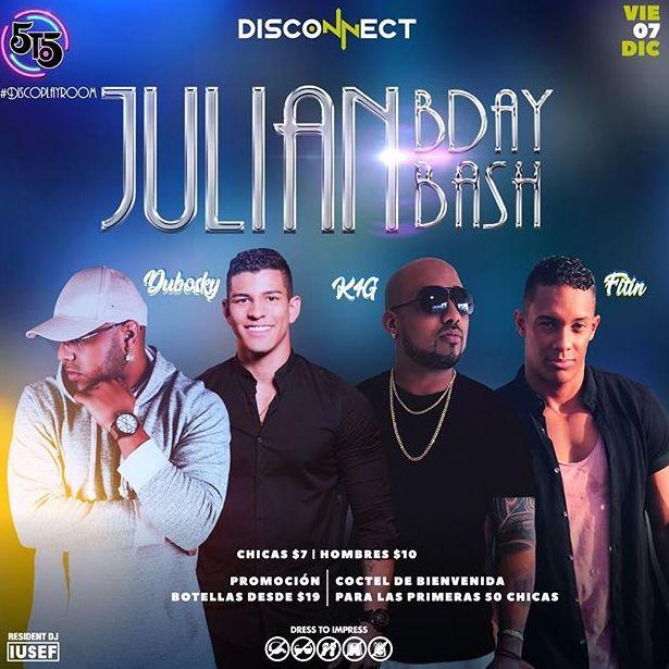 Photo of La Disco 5to5 los invita al Julian BDay Bash