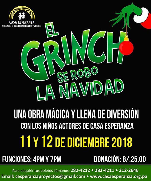 Photo of Estreno de la obra 'El Grinch se robo la navidad'