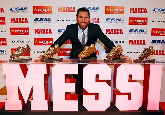 Photo of Leo Messi recibió su quinta Bota de Oro