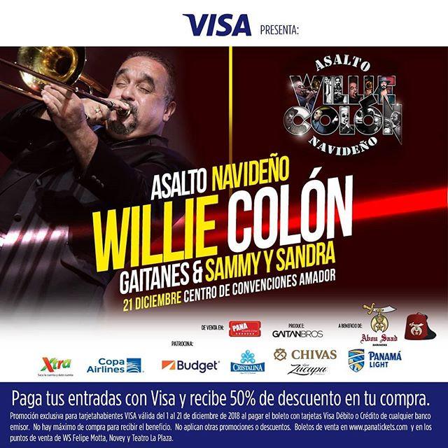 Photo of Willie Colón en concierto en Panamá