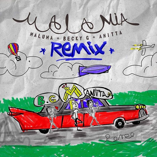 Photo of Maluma, Becky G y Anitta estrenan Remix de 'Mala Mía'