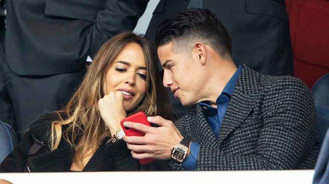Photo of Shannon de Lima y James Rodríguez ambos en el Santiago Bernabéu