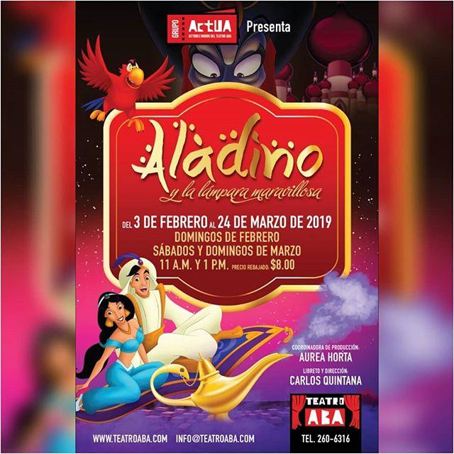 Photo of Obra 'Aladino y la lampara maravillosa' en Teatro Aba