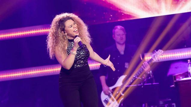 Photo of Astrid Nicole Villarreal en The Voice en Finlandia