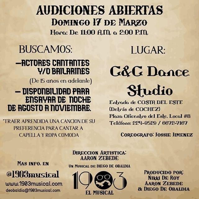 Photo of Audiciones abiertas para 1903 el musical
