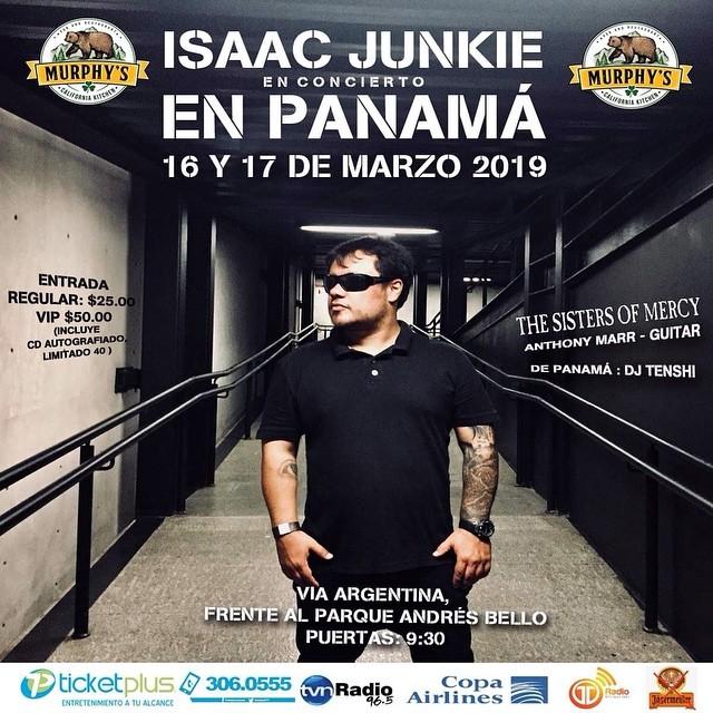 Photo of Isaac Junkie en concierto en Panamá